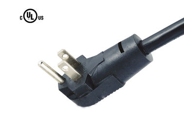 NEMA 5-15P UL Kabel Power Supply Kabel Kabel yang Disetujui 3 Prong Rated Up To 15A 125V