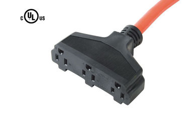 Triple Outlet 3 Wire Power Cord, 14/16/18 AWG Us Power Cord Untuk Alat Rumah Tangga