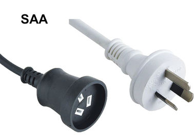 Australia Waterproof Appliance Electrical Cord, 3 Prong Printer Power Cord SAA Approval